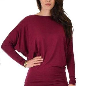 Instincts Women's Long-Sleeve Dolman Tunic Top